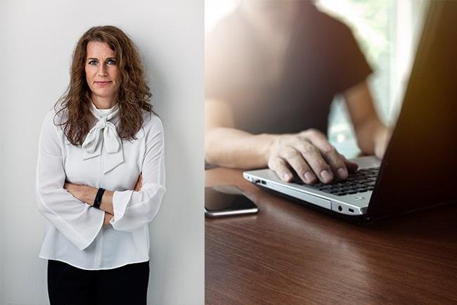 En bild på Datainspektionens generaldirektör Lena Lindgren Schelin