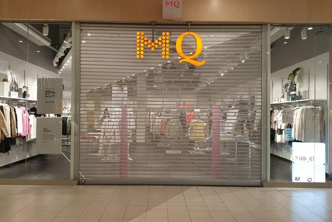 stängd MQ-butik i köpcentrum i Västerås