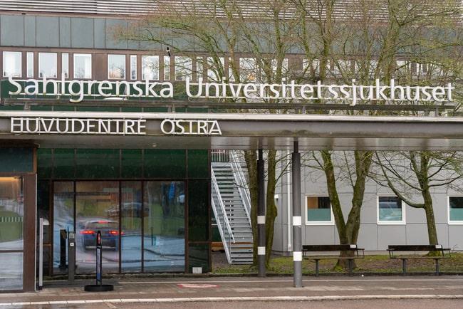 östra huvudingången till Sahlgrenska universitetssjukhuset